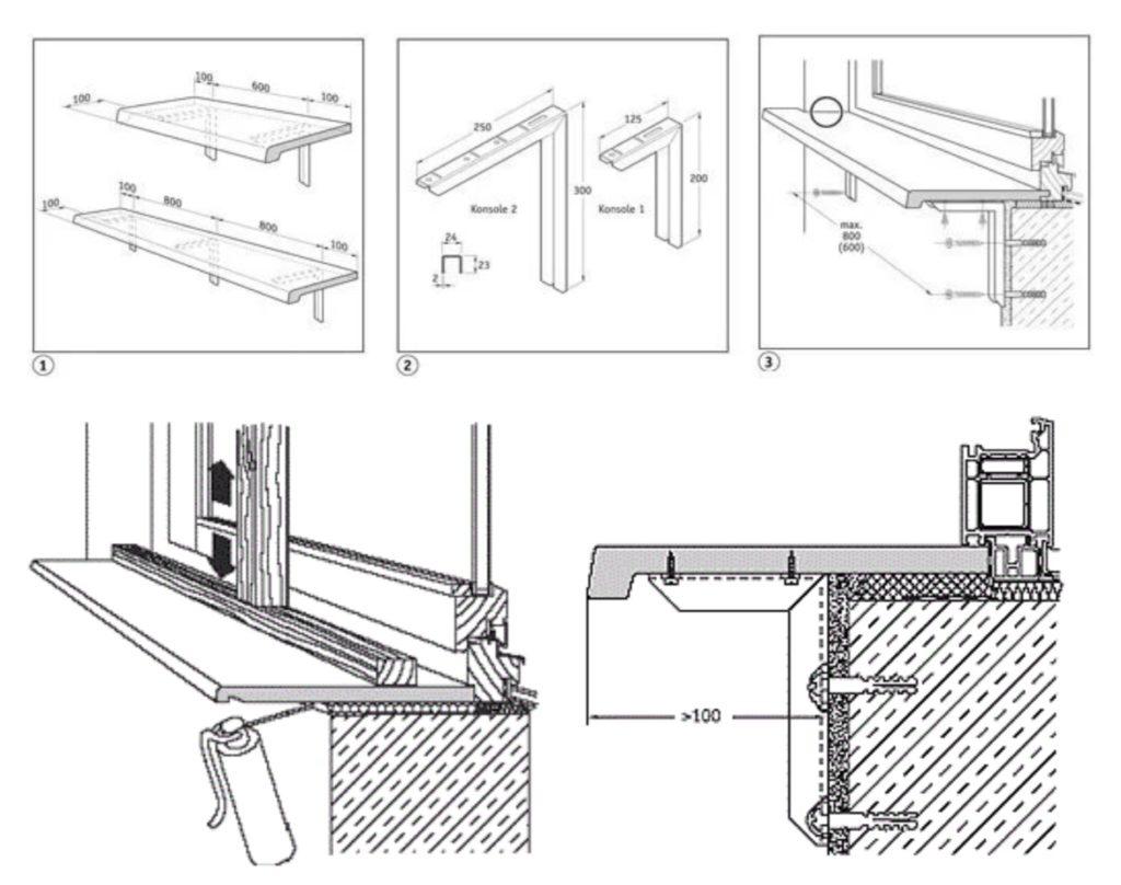как установить пластиковый подоконник на лоджии